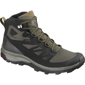 Salomon OUTline Mid GTX Sko Herrer, black/beluga/capers